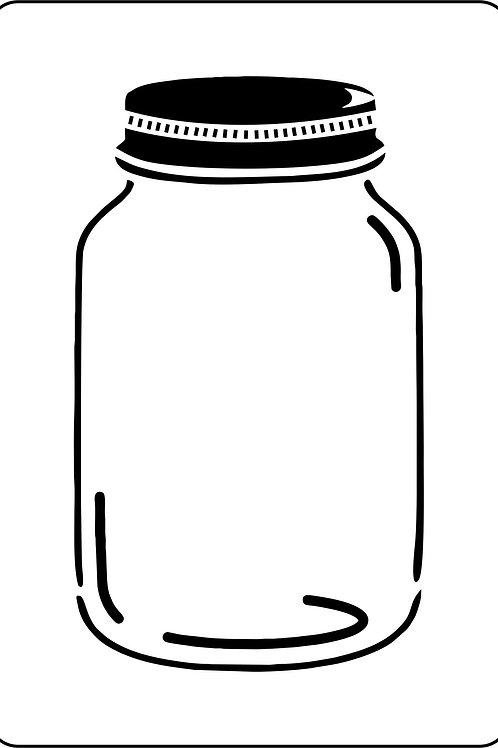 Canning Jar, JRV Stencil