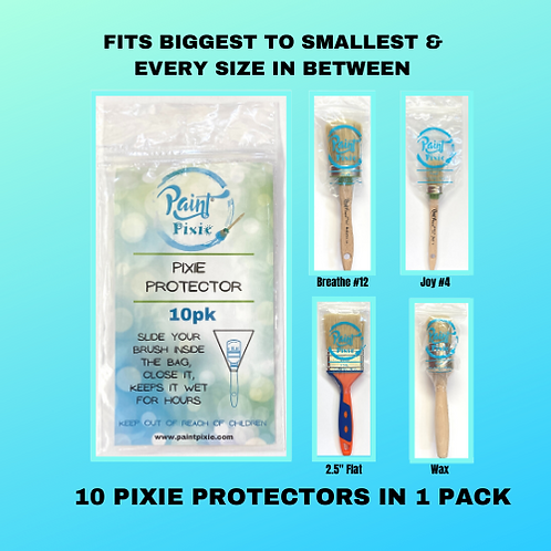 Brush Protectors, Set of 10 , Paint Pixie