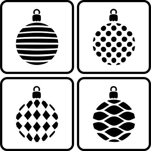 Christmas Balls, JRV Stencil