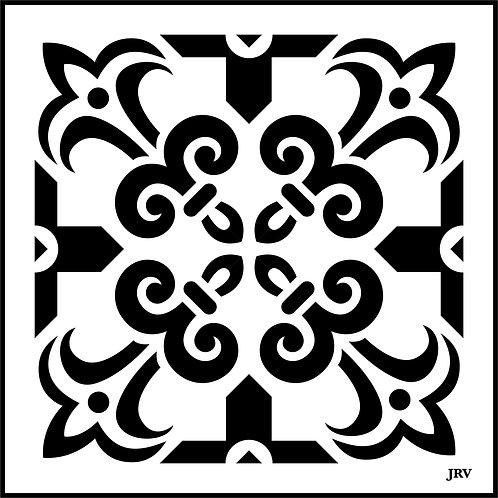 Moroccan Tile #1, JRV Stencil