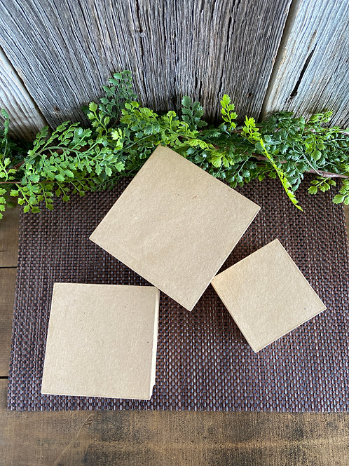 Paper Mache Boxes, Set of 3, Unfinished