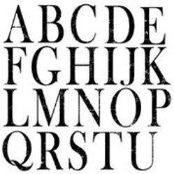 "Typesetting, IOD Decor Stamp, 12"" x 12"""