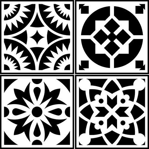 Spanish Tile JRV Stencils (4)