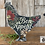 """Thumbnail: Hen, Chicken, Unfinished Wood, 8"""", Made in the US"""