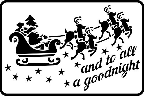 Santa's Sleigh, JRV Stencil