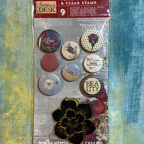 Flair Buttons, Mixed Media