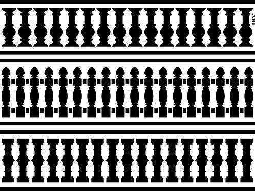 Fence Borders, JRV Stencil