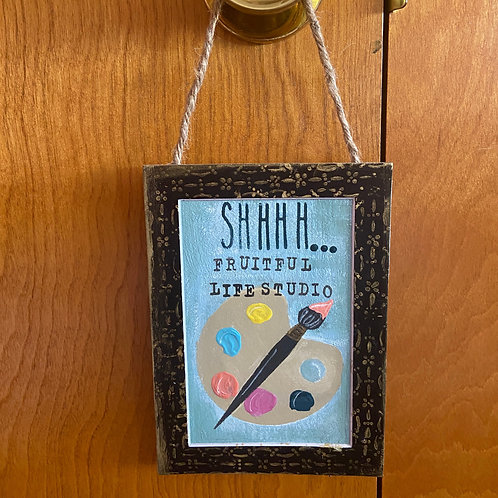 Artist's Palette Studio Door Hanger, DIY Paint, IOD Stamp