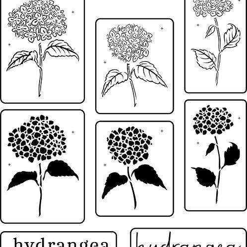 Heavenly Hydrangeas, (set of 8) JRV Stencil