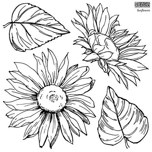 Sunflowers (2 sheets), IOD Decor Stamp