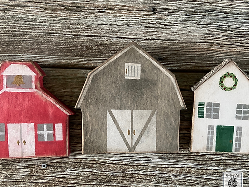 House, Barn, School, Country Village,  Made in the USA