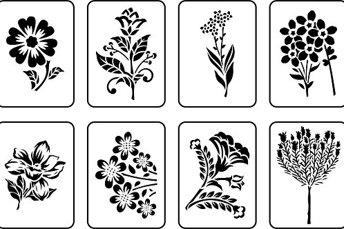 Mini Floral Pack, JRV Stencil Set