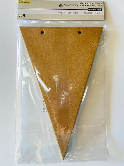 Chipboard Pennant Banner Mixed Media