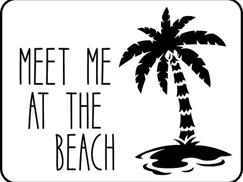 "Palm Tree JRV Stencil,  10.75"" x 8.25"""