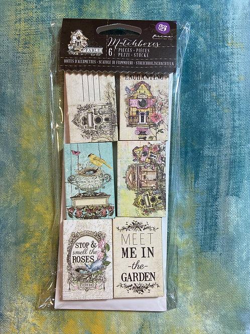 Garden Fable Matchboxes 6 Pieces