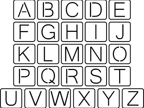 Schoolhouse Font, JRV Stencils