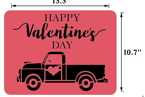 "Valentine's Truck JRV 13.3"" x 10.7"""