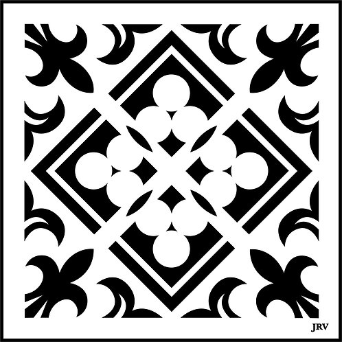 Moroccan Tile #4 JRV Stencil