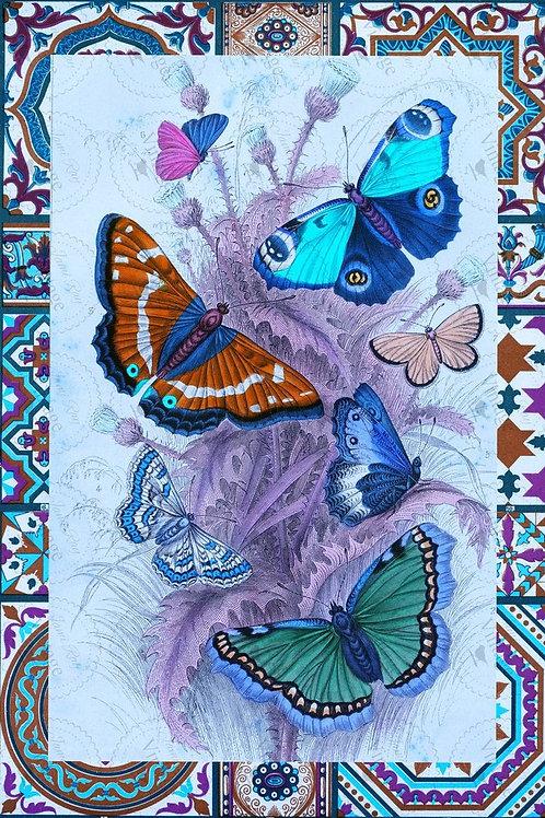 """Papillon, JRV Decoupage Paper, 20"""" x 30"""""""