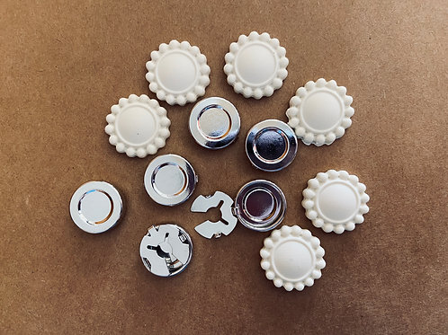 Button Covers Kit, Faux Button Jewelry