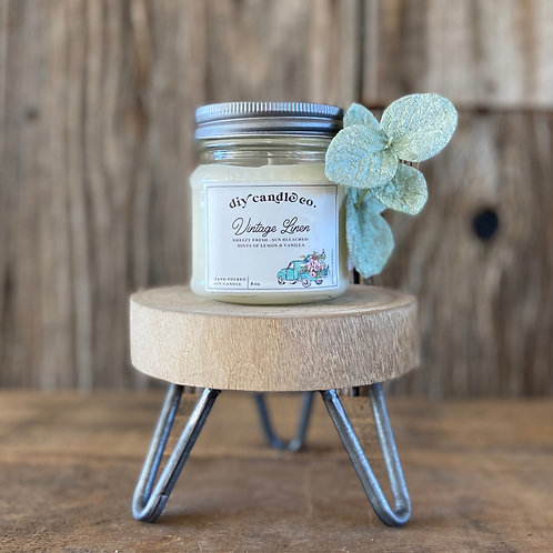 Vintage Linen, DIY Candle Co. Hand Poured, Soy Candle