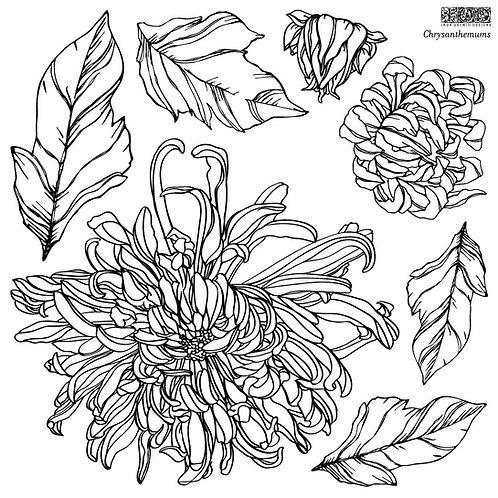 Chrysanthemums (2 sheets), IOD Decor Stamp