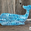 """Thumbnail: Hand Painted Whale, 14"""" Two-Sided, DIY Paint, IOD Stamps"""