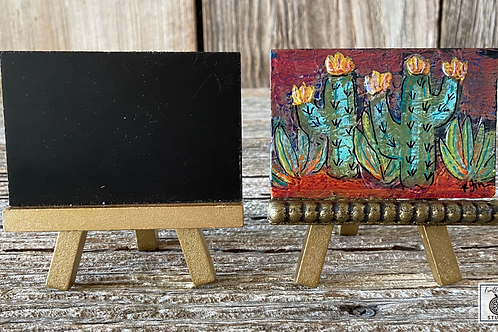 Original Mini Boho Mixed Cacti Painting, DIY Paint, Cactus