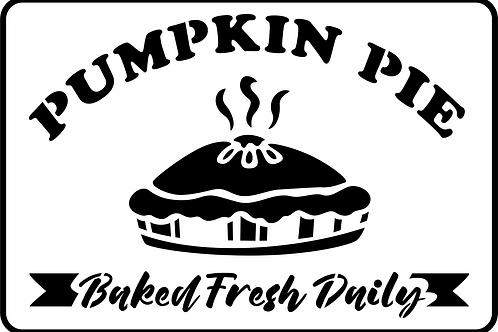 "Pumplin Pie Stencil, JRV 17"" x 11.5"""