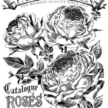 "Catalogue of Roses, (Retired) IOD Decor Transfer, 24"" x 33"""