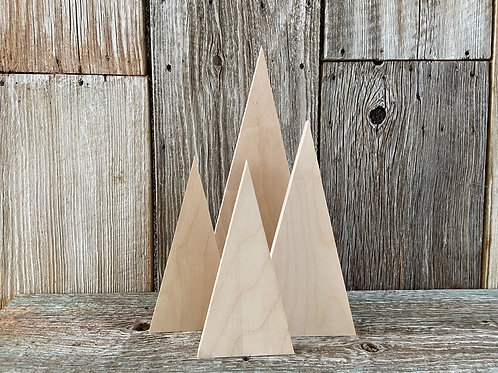 "Wood Tree Set (4 pc): 16"", 12"", 10"" Made in the USA"