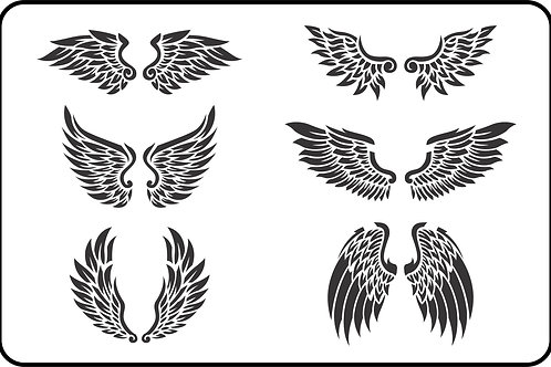 "Wings JRV Stencil 11.5"" x 17.5"""