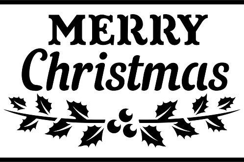 "Merry Christmas JRV 7"" x 11.5"""