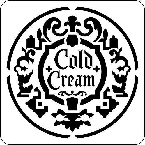 Cold Cream Label, JRV Stencil