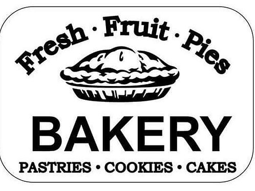 "Bakery Stencil, JRV 12"" x 8"""