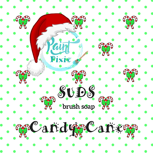Holiday Edition Candy Cane Suds Brush Cleaner, Paint Pixie