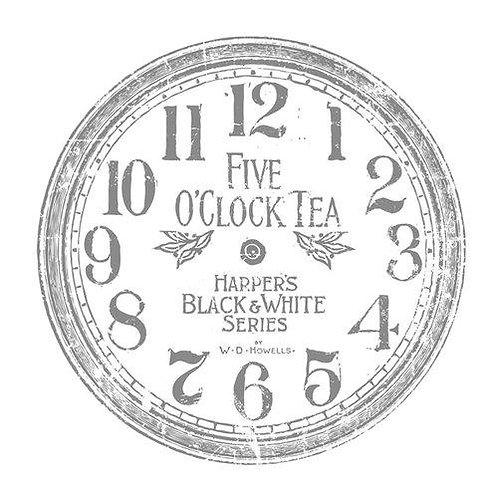 "Clock 12"" Decor Transfer"