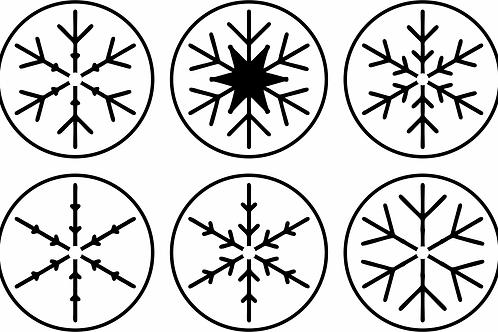 Snowflake Minis, JRV Stencil Set, 6 pc.
