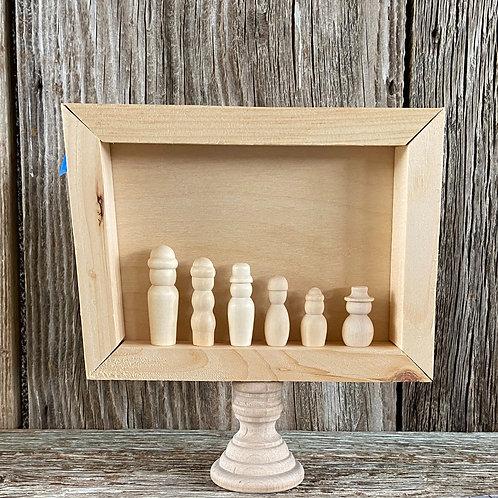 Winter Shadowbox & Sign Kit, Reversible, Wood