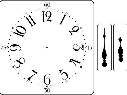 Mora Clock, JRV Stencil