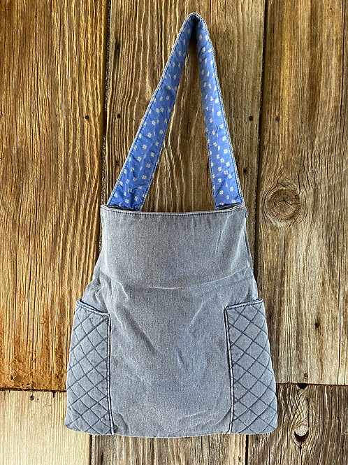 Denim Tote Bag, Fully Lined