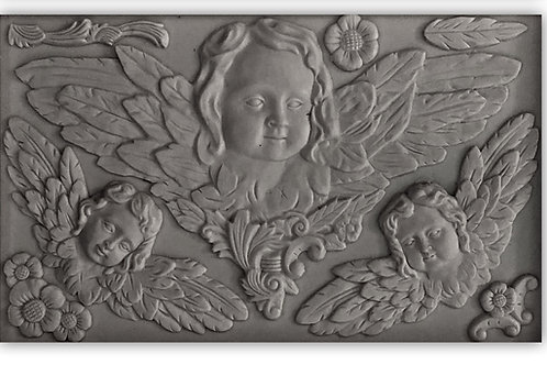 "Classical Cherubs, IOD Decor Mould, 6""x10"""