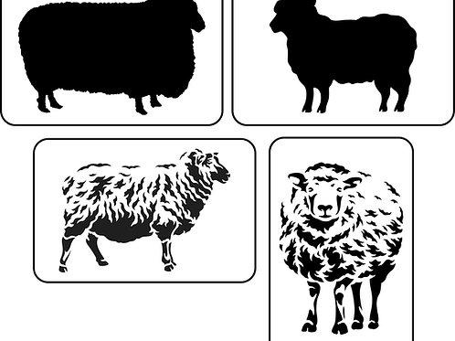 Silhouette Sheep, JRV Stencil Set