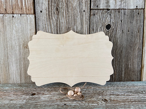 Faux Pallet Wood Plaque Kit, Made in the USA