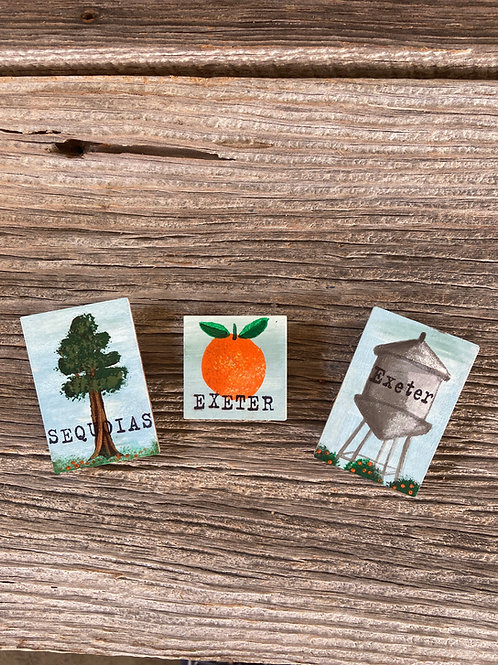 Hand Painted Local CA Magnets