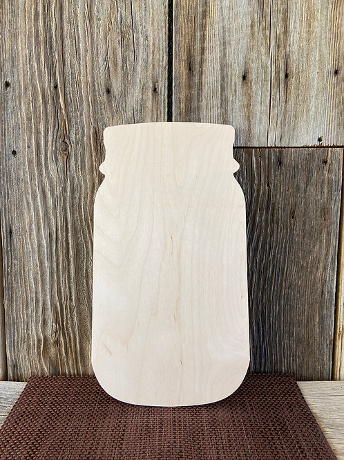 "Wooden Jar Door Hanger, 18"" Made in USA"