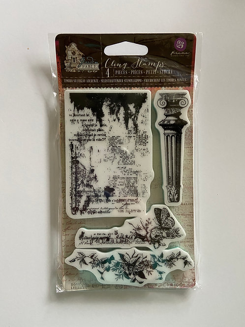 Garden Fable Cling Stamps 4 Pieces