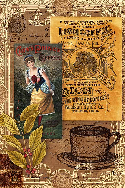 Morning Brew Coffee, Decoupage Queen Rice Paper