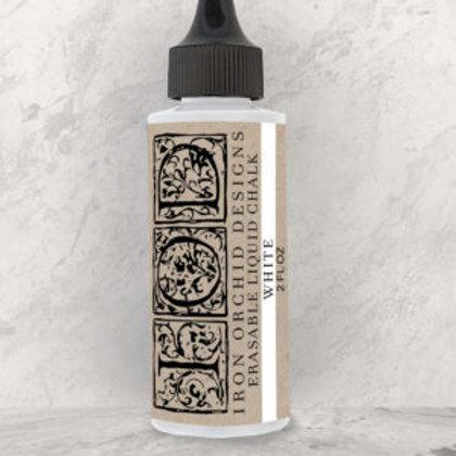 Erasable Liquid Chalk, White, IOD Ink 2 oz. Bottle