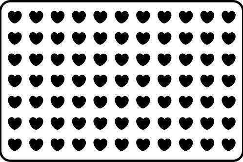 """Hearts JRV 11.5"""" x 17.5"""""""